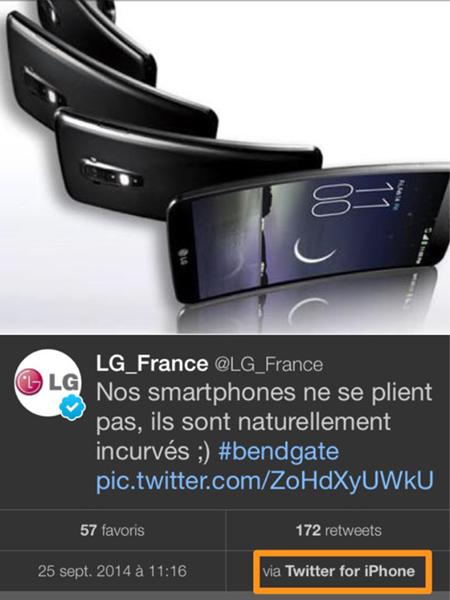 LG France bendgate 2014