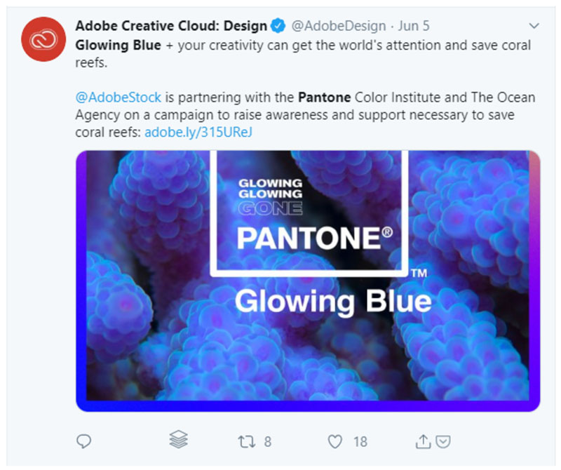 Adobe and Pantone Twitter Campaign