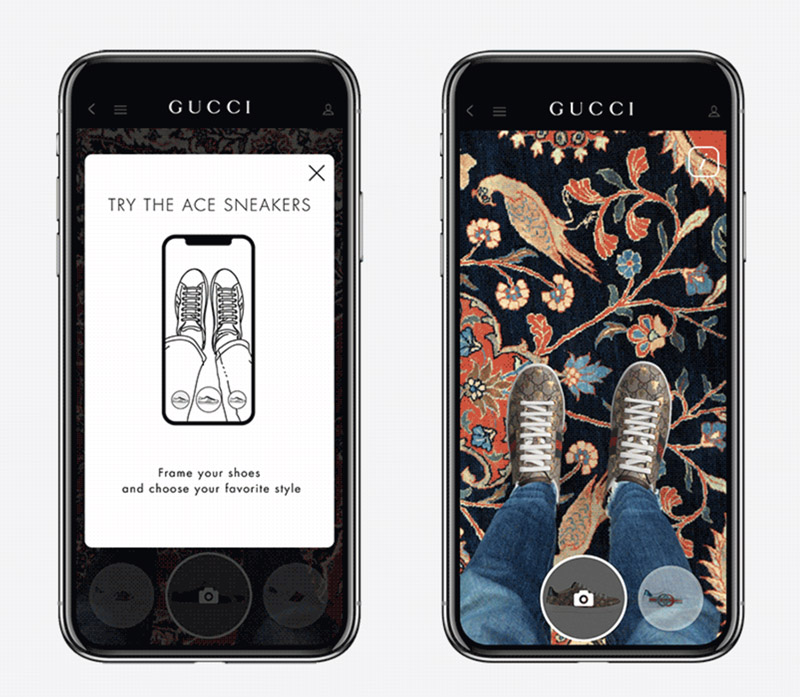 Gucci iOS Shoe App