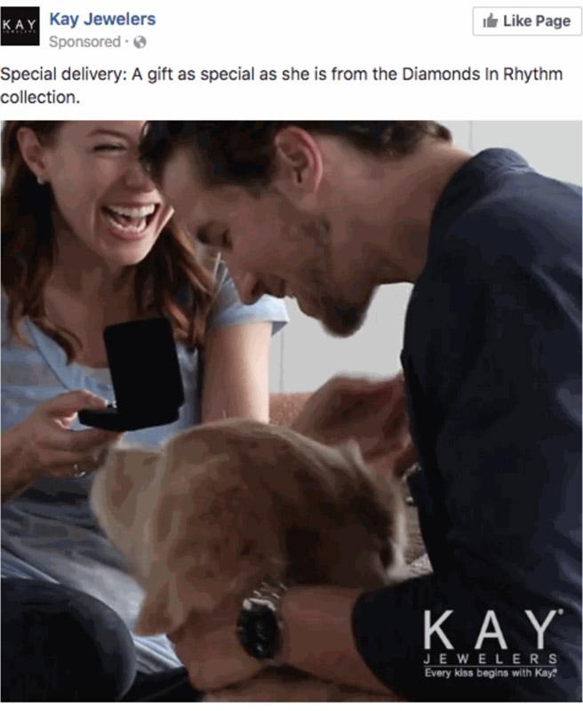 Kay Jewelers Facebook Ad