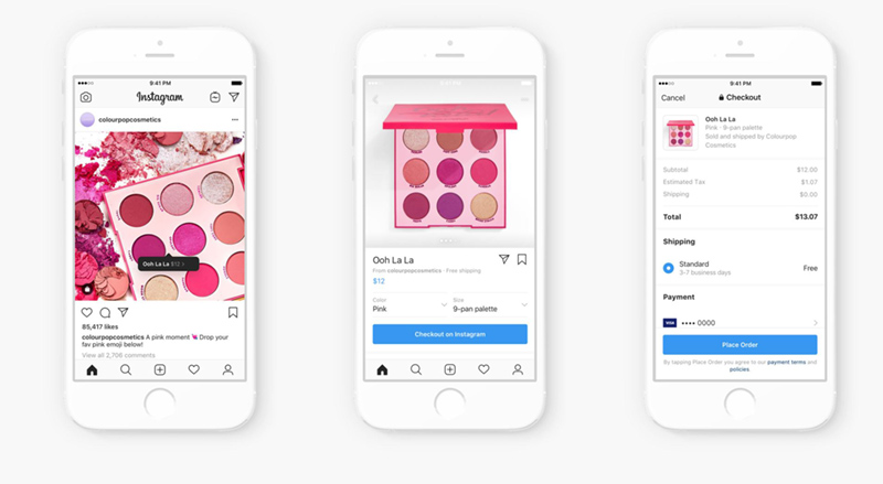 Instagram Checkout Make-up Product