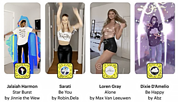 Snapchat New AR TikTok Lenses