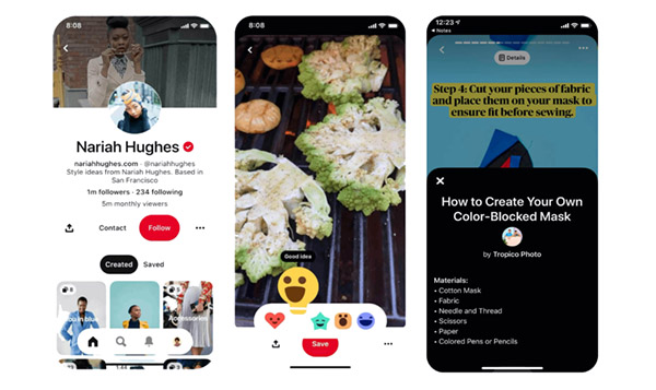 Pinterest Stories Usability Feature