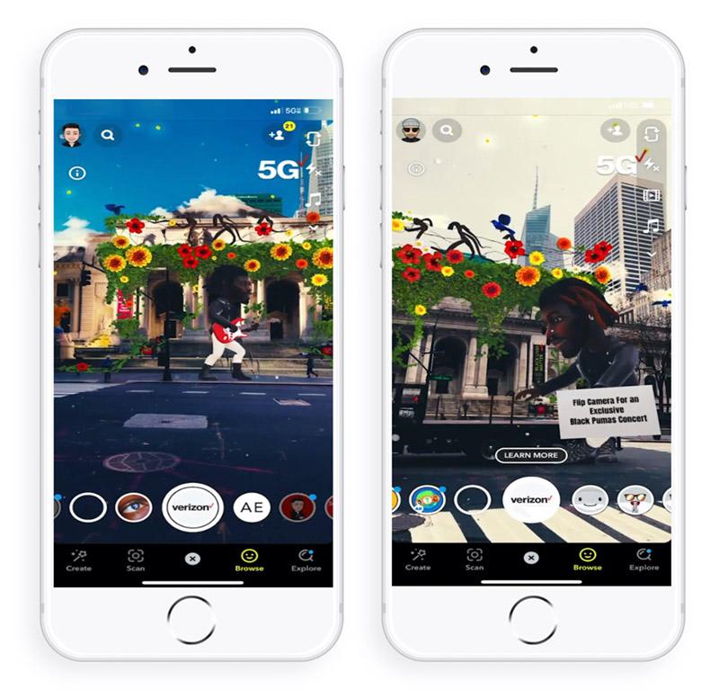 Snapchat & Verizon 5G Lense