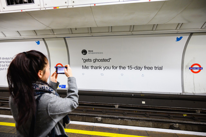 Twitter Dating Campaign-London Subway