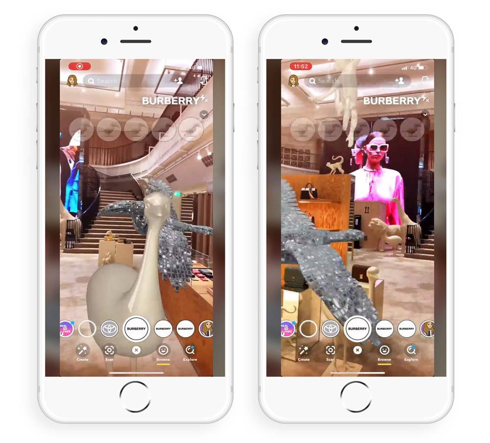Burberry AR Snapchat Filter